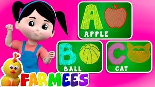 ABC Phonics Song | Preschool Learning Videos | Farmees Nursery Rhymes & Kids Songs | Animal Cartoon