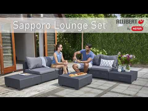 Allibert By Keter Sapporo Lounge Set assembly video
