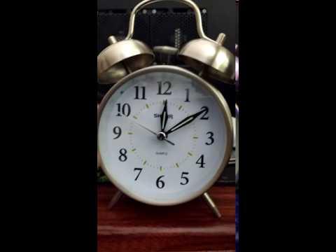 Sharp SPC800 Twin Bell Alarm Clock Ring Test