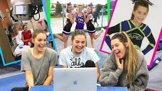REACTING TO OUR OLD CHEER AND GYMNASTIC PICTURES! | TheCheernastics2