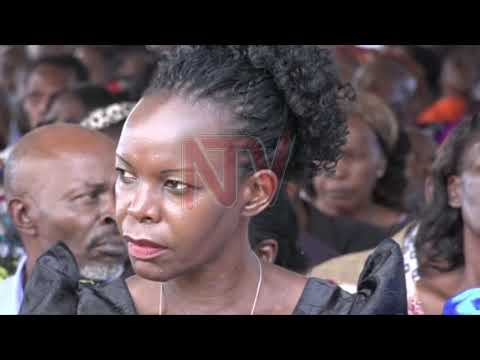 Mourners pay tribute to the late Kagugube