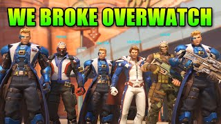 We Broke Overwatch Meta - 6 Soldier 76 Team