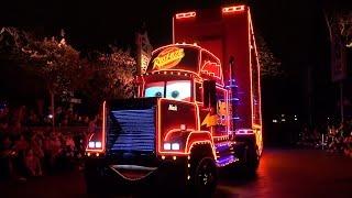 Paint The Night FULL Parade, Disneyland 60th, w/ Matterhorn View: Tink; Cars; Frozen; Cinderella