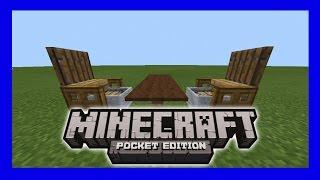 Minecraft PE  สอนสร้างเก้าอี้นั่งได้