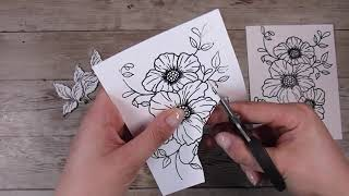 Using Up More Of Paper Napkins - Clean And Simple White Flowers In Card Making Techniques