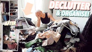 DECLUTTER & ORGANISE MY ROOM WITH ME! As I Wont Be Leaving It For 12 Weeks