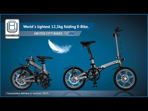 THE ONE – World's Lightest Electric Folding Bike!-GadgetAny
