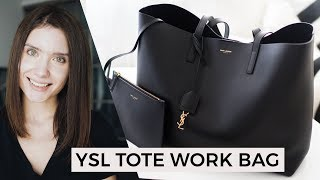 YSL Saint Laurent Tote Work Bag | Unboxing & Review