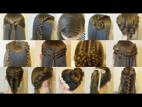 14 Easy Hairstyles For School Compilation! 2 Weeks Of Heatless Hair Tutorials