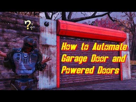 Fallout 76:Garage Door and Powered Door Tutorial