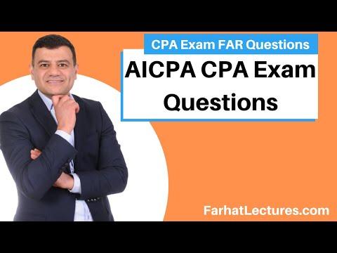 AICPA CPA Exam Questions: FAR - YouTube
