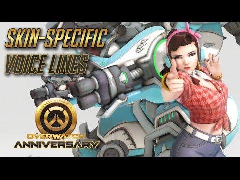 Overwatch – All Skin-specific voice lines (Anniversary Update)
