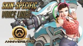 Overwatch - All Skin-specific voice lines (Anniversary Update)