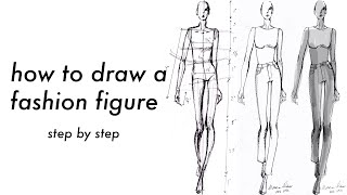 How To Draw A Fashion Figure   Step By Step With Measurements