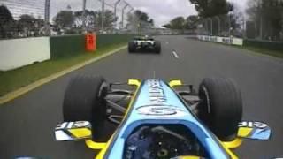 2006 Australian GP- Alonso, Raikkonen vs Button