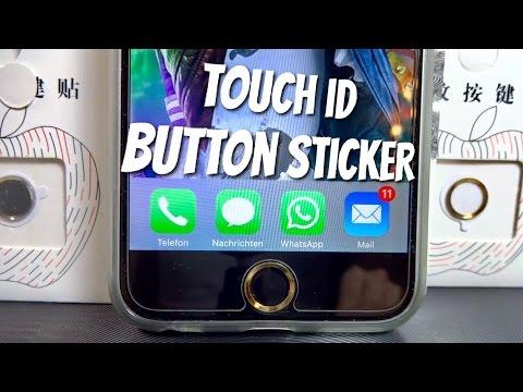TOUCH ID Button STICKER   Wähle deine Farbe, Gold, Silber, Schwarz, Weiß, ganz egal