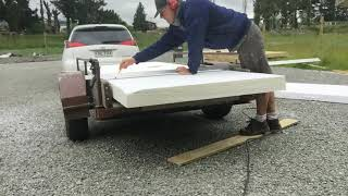 How to cut 100mm polysterene insulation for timber framed floor