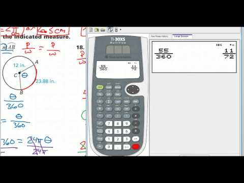 How to Find the Radius Given the Arc Length and an Angle