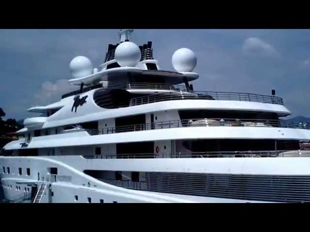 Topaz yacht 147m spotted Nice port French Riviera