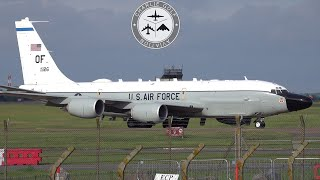 10 MINUTES of take off and landing action at RAF Fairford  MC130J KC135 RC135 CV22 Exercise Highlife