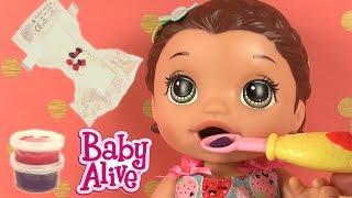 Baby Alive Lily Bébé Glouton Super Snacks Snackin' Lily Brunette