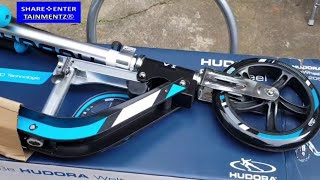 Hudora Big Wheel 205 City Scooter Unboxing and Riding