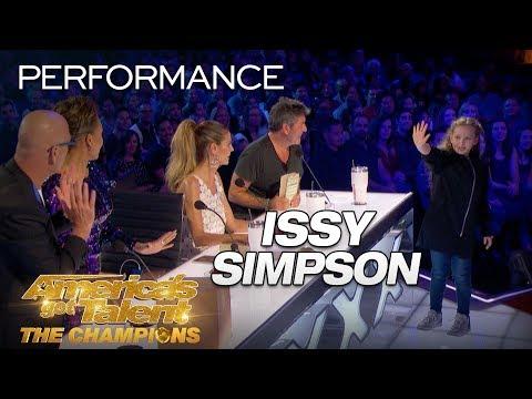 Issy Simpson: Kid SHOCKS Judges With Unbelievable Magic Trick - America's Got Talent: The Champions (видео)