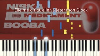 Niska   Médicament Ft. Booba (Piano TutorialParoles)