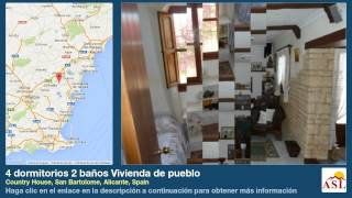 preview picture of video '4 dormitorios 2 baños Vivienda de pueblo se Vende en Country House, San Bartolome, Alicante, Spain'