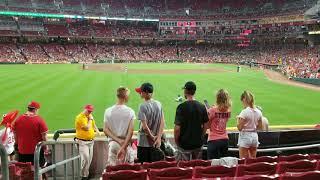Cincinnati Reds fire alarm delay of game!!!