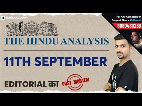 The Hindu 11th September Editorial Analysis by Aditya Sir   English Vocabulary for SSC CGL Tier 2