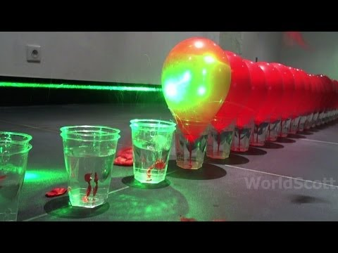 Hundreds Of Balloons Fall Victim To A Giant Laser
