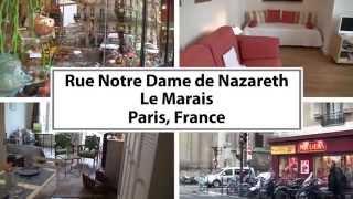 preview picture of video 'Video Tour of a Studio Apartment Vacation Rental in Le Marais, Paris'
