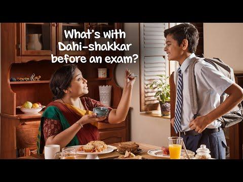 Why have Dahi Shakkar, before an exam?