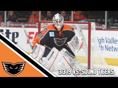 Sound Tigers vs. Phantoms   Mar. 3, 2019