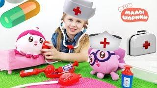 Мои Малышарики  - Играем в доктора с уколами. Малышарики игрушки