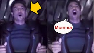 Sushant Singh Rajput Having FUN And ENJOYING Roller Coaster Ride For The First Time