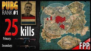 PUBG Rank 1 - ibiza 25 kills [EU] Solo FPP - PLAYERUNKNOWN