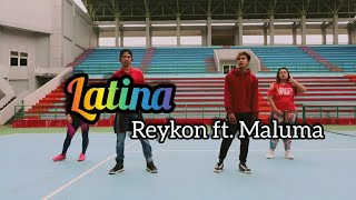 Reykon   Latina (feat. Maluma) (Chorography) By Asbarebare | ZUMBA | FITNESS | DANCE | At Balikpapan