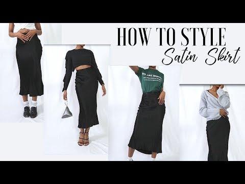 4 Ways to Style a Satin Skirt | Creative Closet | Kelsley Nicole