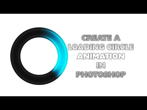Create A LOADING CIRCLE ANIMATION In Photoshop