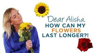How To Keep Flowers Alive Longer | Dear Alisha