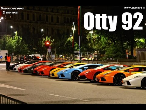 100 Lamborghini Line in Milan for 50th Anniversary