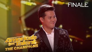 "Marcelito Pomoy placed 4th on Season 2 of America's Got Talent: The Champions » Get The America's Got Talent App: http://bit.ly/AGTAppDownload » Subscribe for More: http://bit.ly/AGTSub » Stream Anytime: http://bit.ly/AGTFullEpisodes  AMERICA'S GOT TALENT ON SOCIAL Like AGT: https://www.facebook.com/agt Follow AGT: https://twitter.com/agt AGT Tumblr: http://nbcagt.tumblr.com/ AGT Instagram: http://instagram.com/agt  ""America's Got Talent: The Champions"" brings together the world's most talented, memorable and all-around fan-favorite acts from past seasons of ""AGT"" and the other ""Got Talent"" franchises, spanning 194 territories.  Find America's Got Talent: The Champions trailers, full episode highlights, previews, promos, clips, and digital exclusives here.  NBC ON SOCIAL Like NBC: http://Facebook.com/NBC Follow NBC: http://Twitter.com/NBC NBC Tumblr: http://NBCtv.tumblr.com/ NBC Pinterest: http://Pinterest.com/NBCtv/ NBC Google+: https://plus.google.com/+NBC YouTube: http://www.youtube.com/nbc NBC Instagram: http://instagram.com/nbc  ABOUT AMERICA'S GOT TALENT: THE CHAMPIONS Last winter's #1 most-watched alternative series, ""America's Got Talent: The Champions,"" returns for a second season. The series will feature a star-studded panel of judges, including executive producer Simon Cowell, global superstar Heidi Klum, ""AGT's"" longest-running judge Howie Mandel and the newest addition - singer, songwriter and author Alesha Dixon, who joins ""Champions"" from the smash hit ""Britain's Got Talent."" Terry Crews, star of NBC's ""Brooklyn Nine-Nine"" and People magazine's ""Sexiest TV Host,"" returns as host. ""America's Got Talent: The Champions"" brings together the world's most talented, memorable and all-around fan-favorite acts from past seasons of ""AGT"" and from the other ""Got Talent"" franchises around the globe.  Marcelito Pomoy Takes 4th Place On Champions - America's Got Talent: The Champions https://youtu.be/EztbfoLzuRA  America's Got Talent http://www.youtube.com/user/americasgottalent"