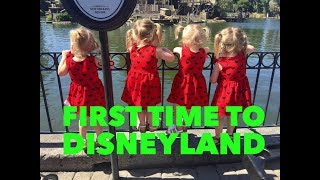 QUADRUPLETS FIRST TIME TO DISNEYLAND