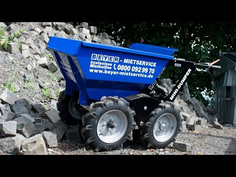 Motorschubkarre mieten - Muck Truck Bedienung
