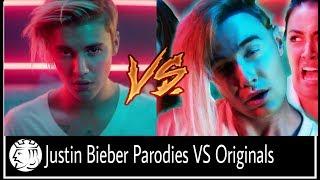 Justin Bieber Parodies VS Original Songs