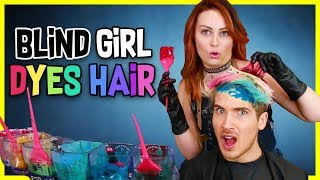 Blind Girl Dyes My hair! *DRAMATIC* W/ Molly Burke - Video Youtube