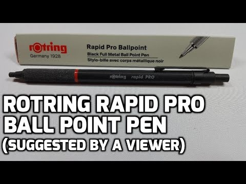 rOtring Rapid PRO Ballpoint Pen Unboxing and Review
