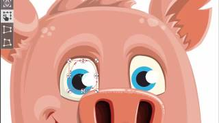 Pig Cartoon Character - Paul the Little Piglet || GraphicMama